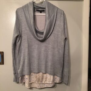 🆕 WHBM Cowl Neck Hi-Low Sweater w/ Attached Tank
